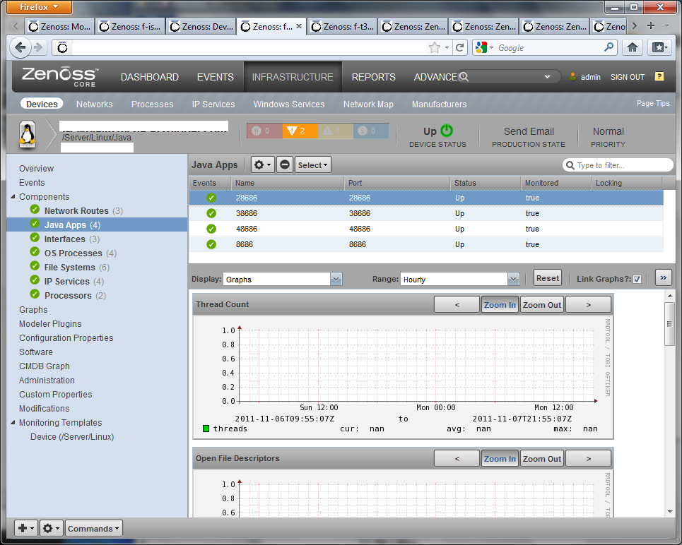 Java Application Components - Open Source Network Monitoring and ...