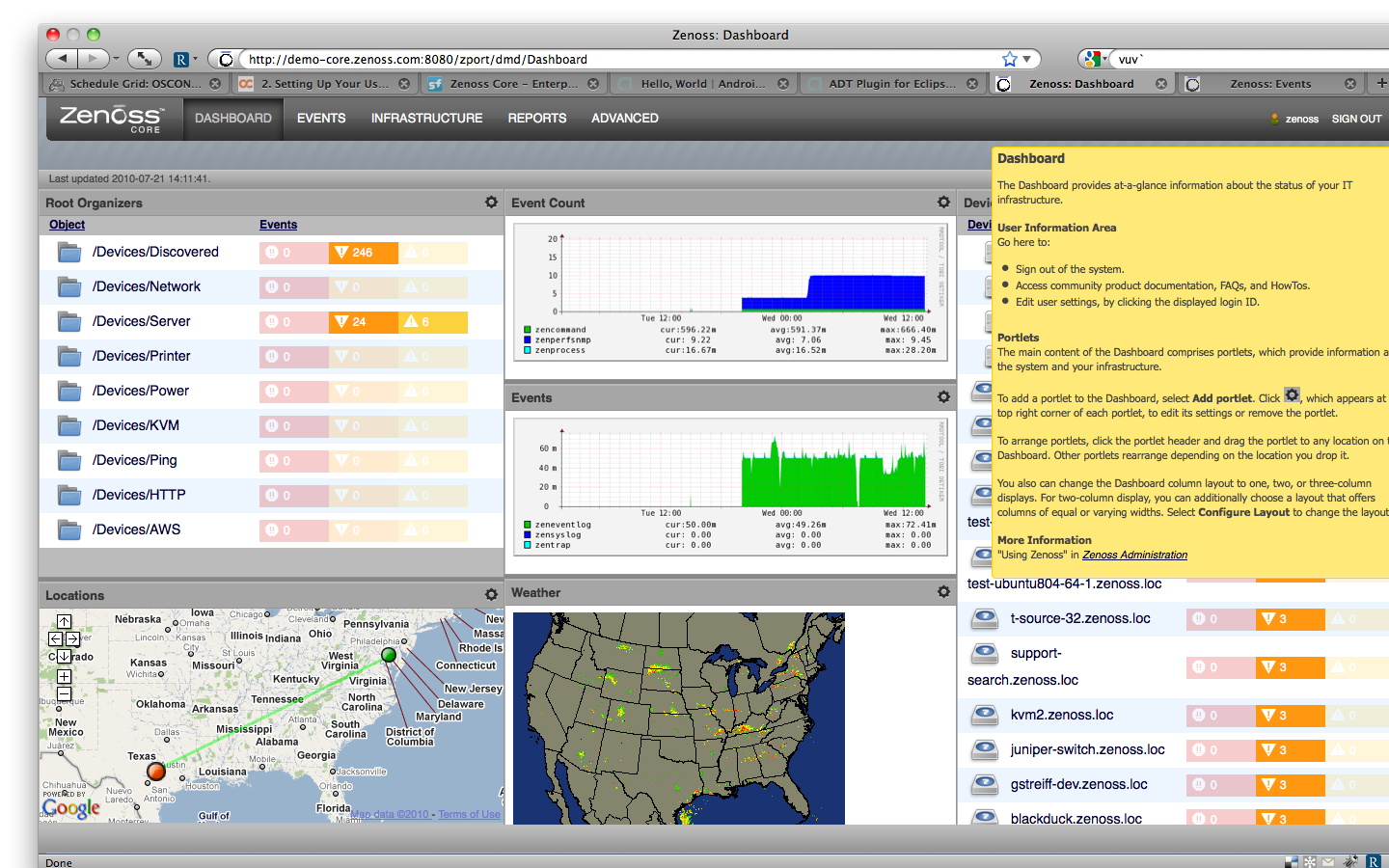 Screenshot Tour - Open Source Network Monitoring and Systems ...